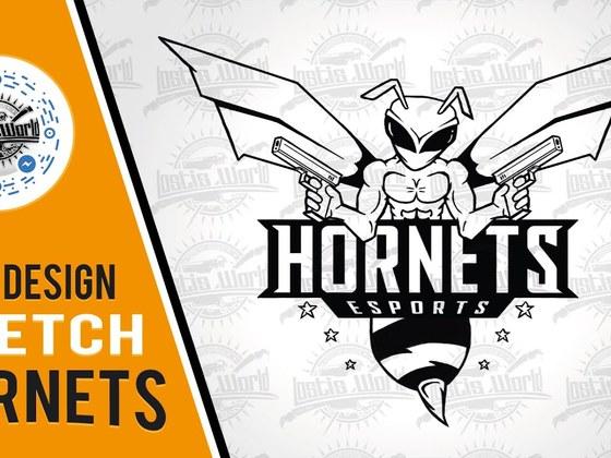 Hornets teamlogo sketch