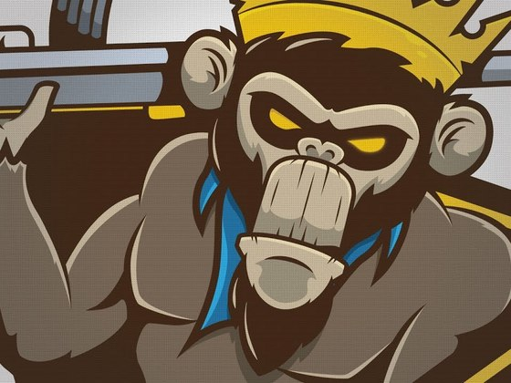 MonKings mascot logo