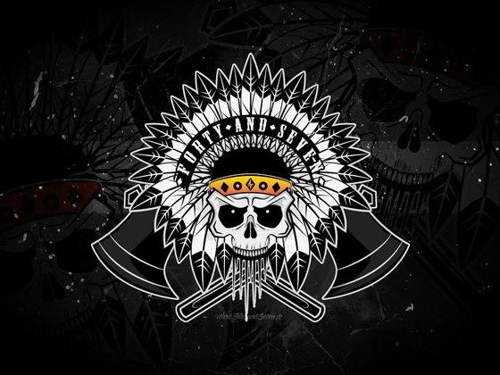 Created a Indian skull Logo/T-Shirt design