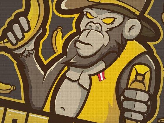 Designed the Ape_Team mascot logo