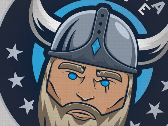 Valhalla Didde Viking mascot
