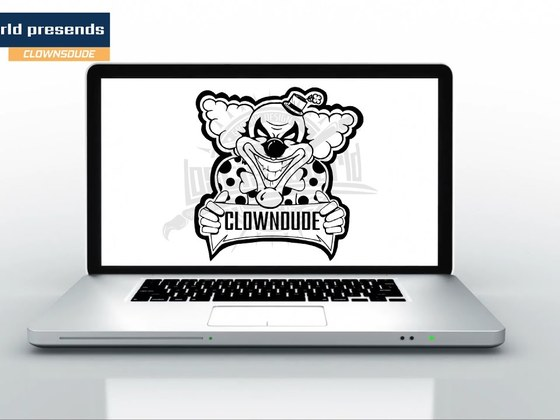 Drawing the Clownsdude logo