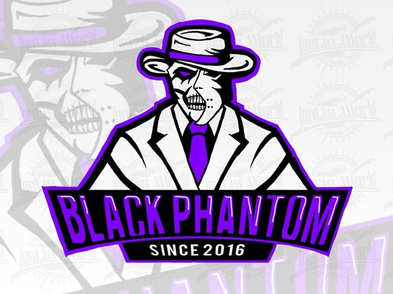 Black Phantom logo sketch
