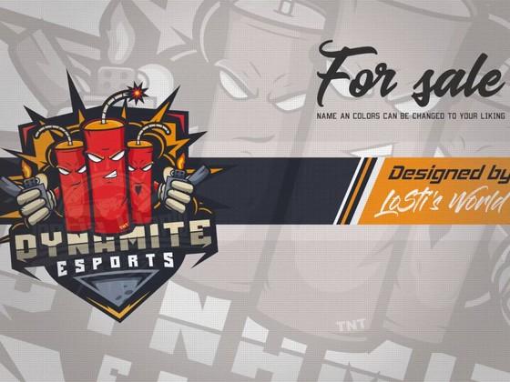 Dynamite eSports mascot logo