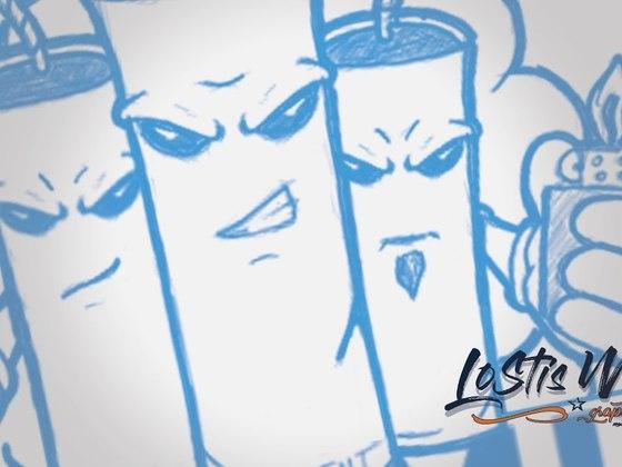 Dynamite mascot - logo sketch - eSports